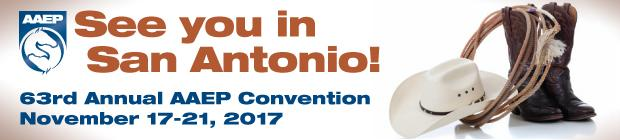 American Association of Equine Practioners Annual Convention on December 3 - 7, 2016 at the Orange County Convention Center in Orlando, Florida